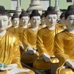 Buddhas über Buddhas an der Aung Setkya Pagode in Monywa.