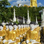 Buddhas in Monywa.