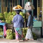 Straßenverkauf auf dem Weg nach Monywa.