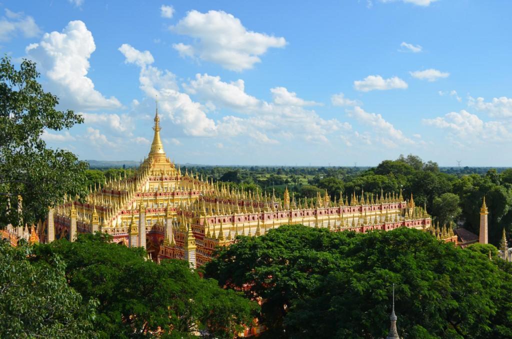 Zutritt nur für Männer: Blick auf die Thanboddhay Pagode in Monywa.
