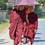 Mönche sind allgegenwärtig in Monywa.