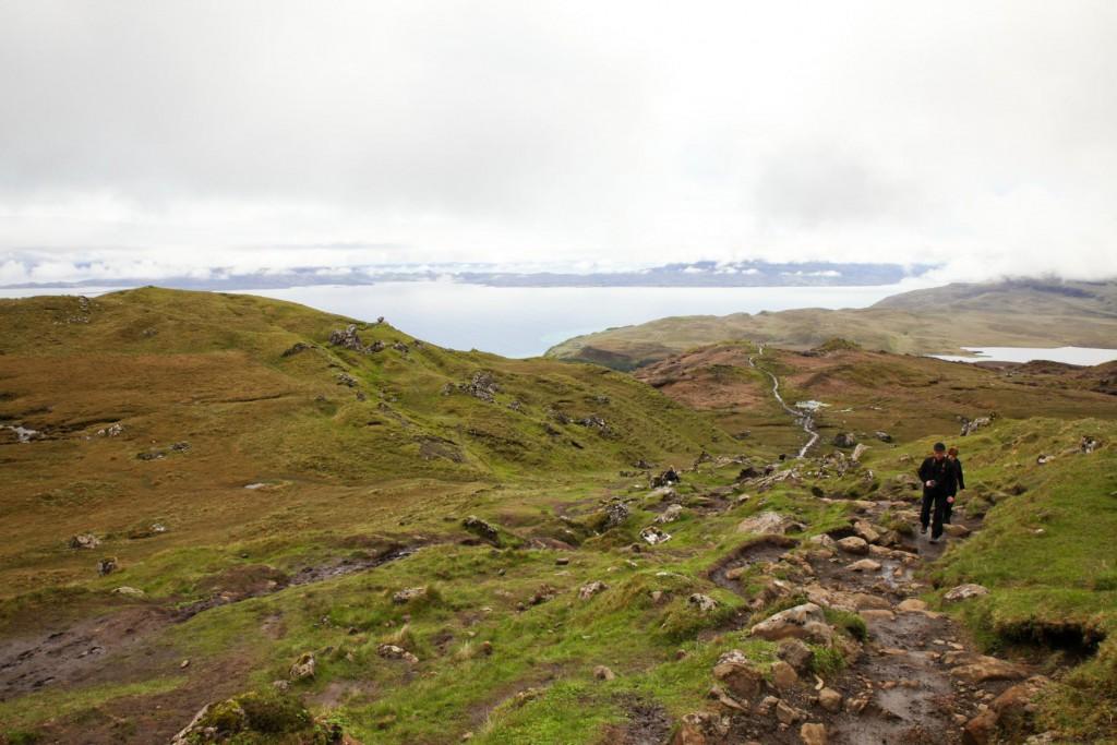 Schottisches Wetter: Bei Nebel und Regen nichauf zum Old Man of Storr