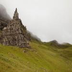 Blick auf den Old Man of Storr auf der Isle of Skye