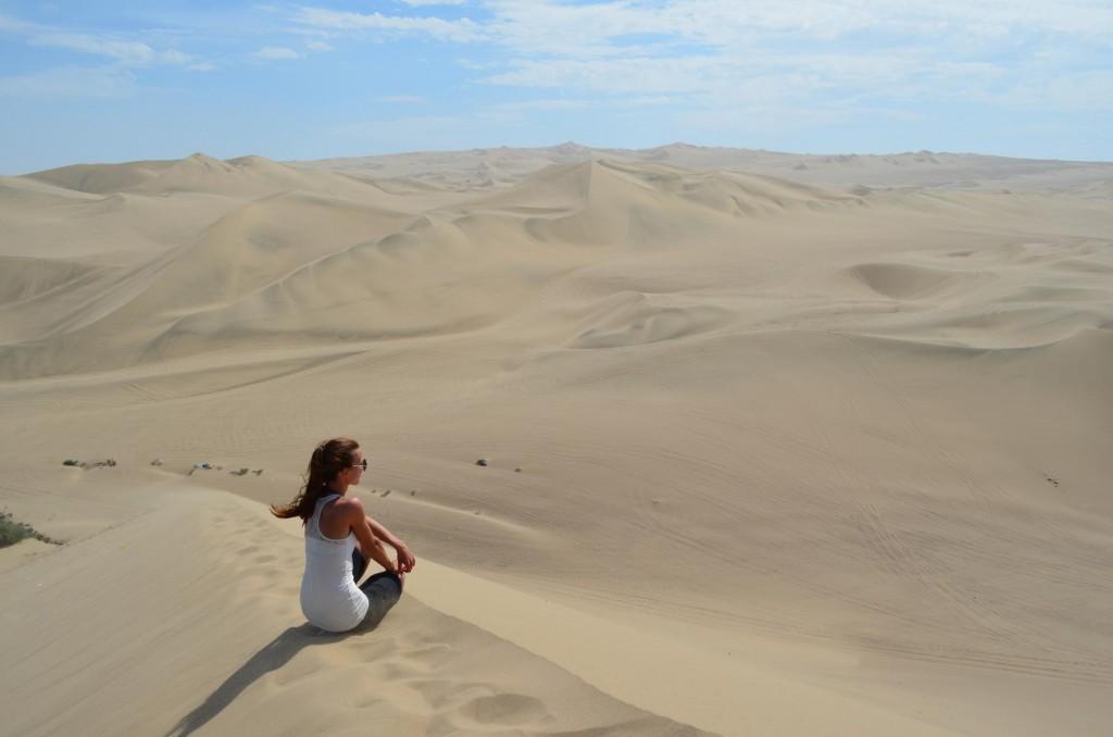 Dünenwanderung in der Oase Huacachina: Was für ein Ausblick!