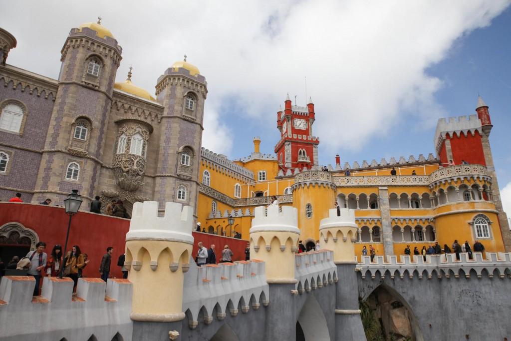 Pena Palast in Sintra: Irgendetwas zwischen kitschig und schön...