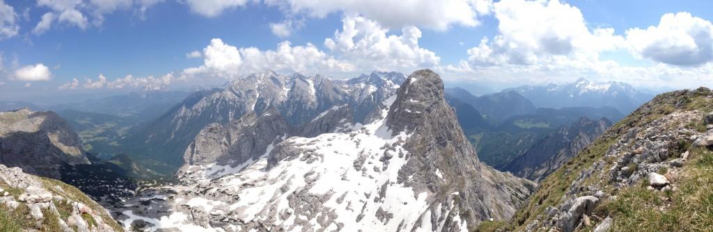 Blick vom Gipfel des Wagendrischlhorn auf der Reiter Alpe