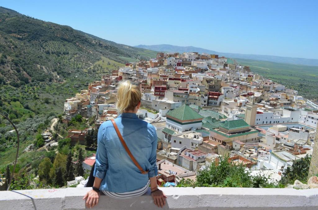 Panorama Blick auf Moulay Idriss