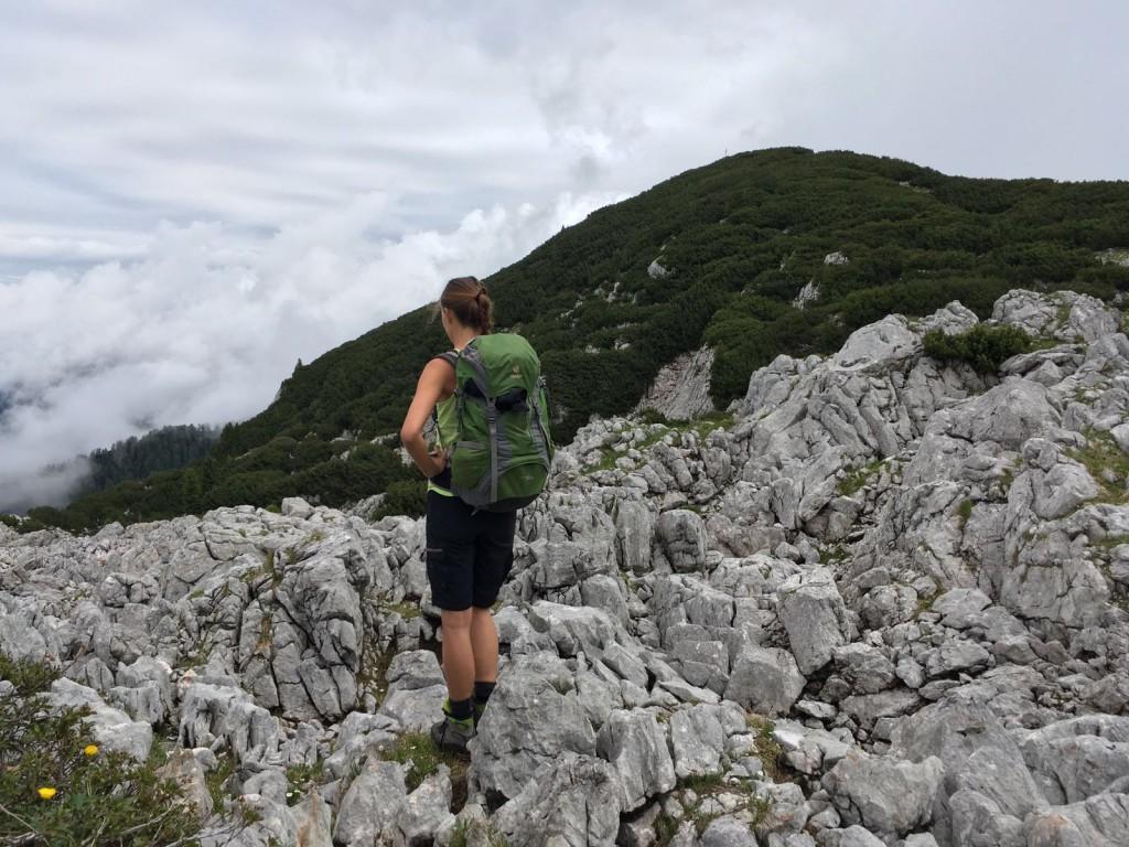 Ein Meer aus Steinen auf derReiter Alpe