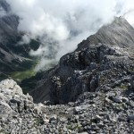 Rundwanderung Speckkarspitze: Der Abstieg wird zur Gratwanderung