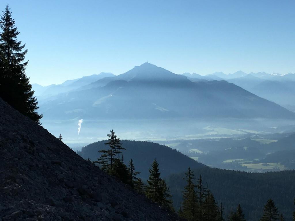 Ausblick von der Gruttenhütte im Kaisergebirge