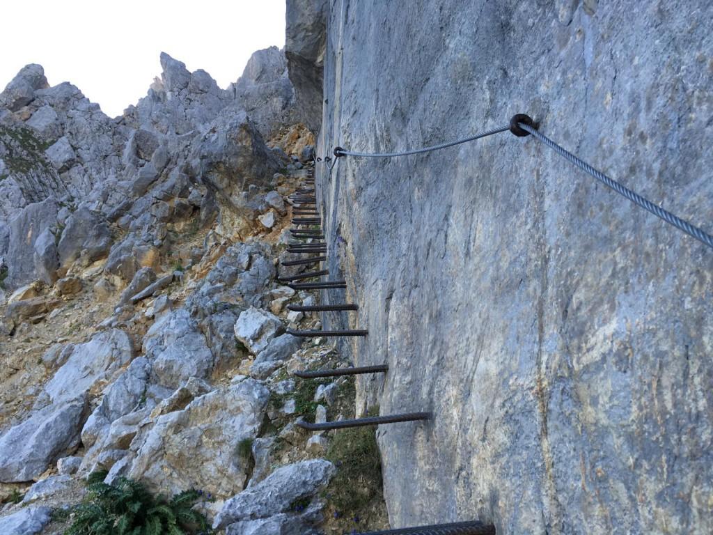 Jägerwand: Einstieg in den Gamsängersteig