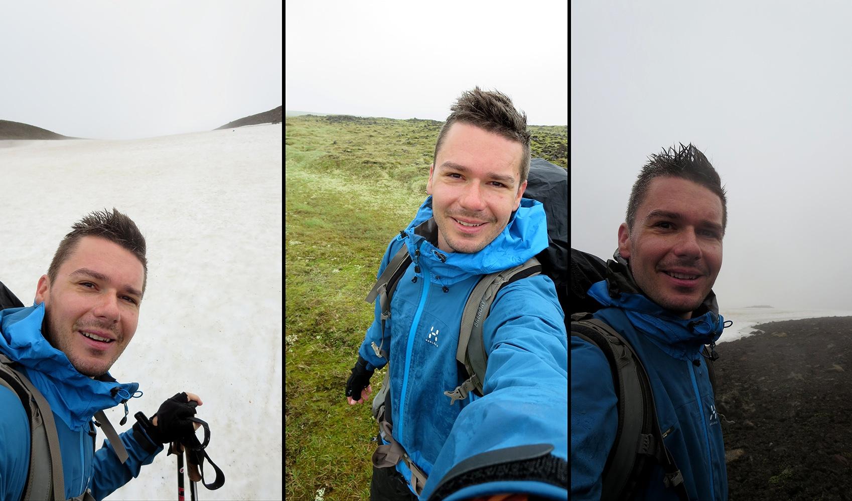 Zu Fuß durch Island: Immer weiter gehen, auch bei Wind und Wetter.
