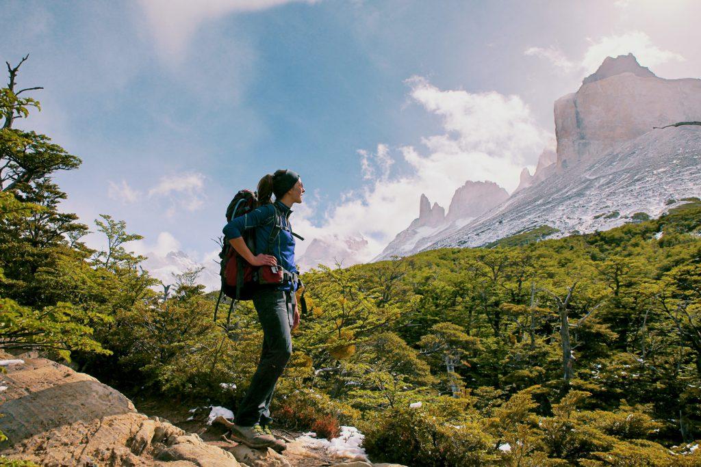 Trekking im Torres del Paine Nationalpark: Auf dem Weg zum Valle del Frances.