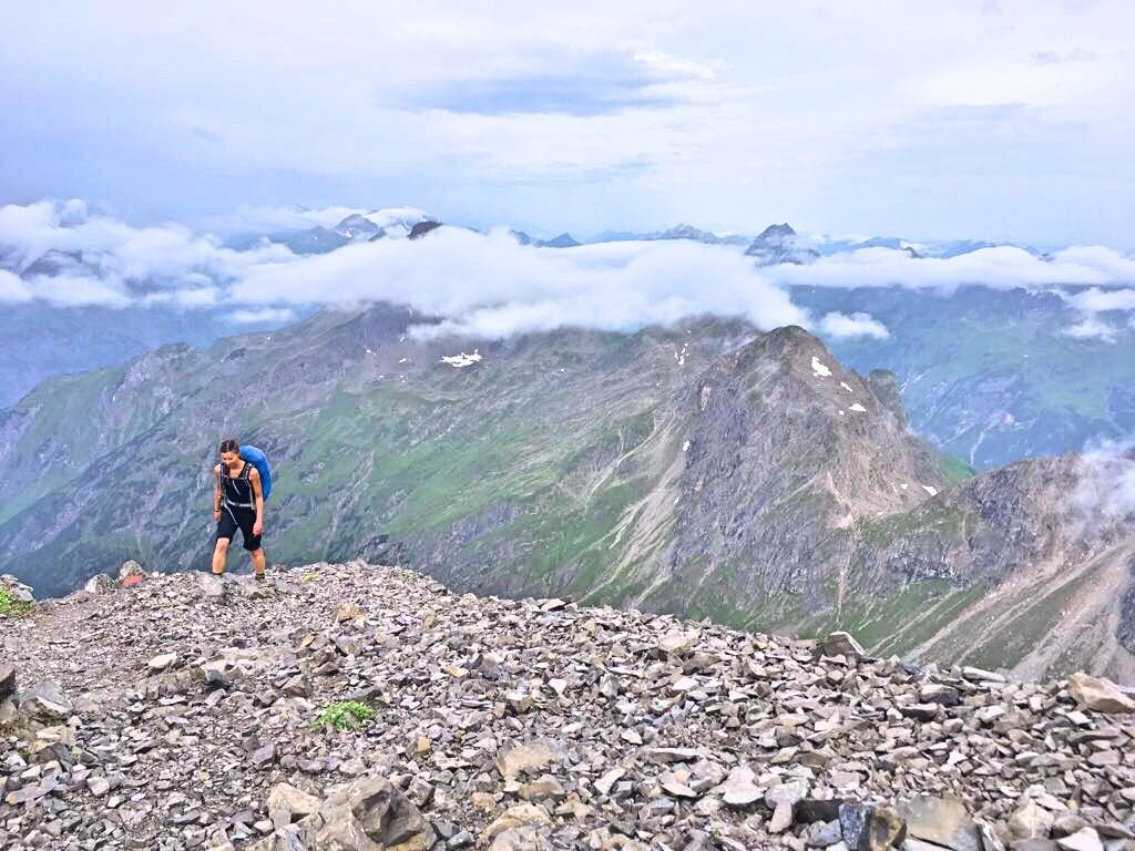 Biberkopf Hüttenwanderung: Finaler Aufstieg zum Hohen Licht