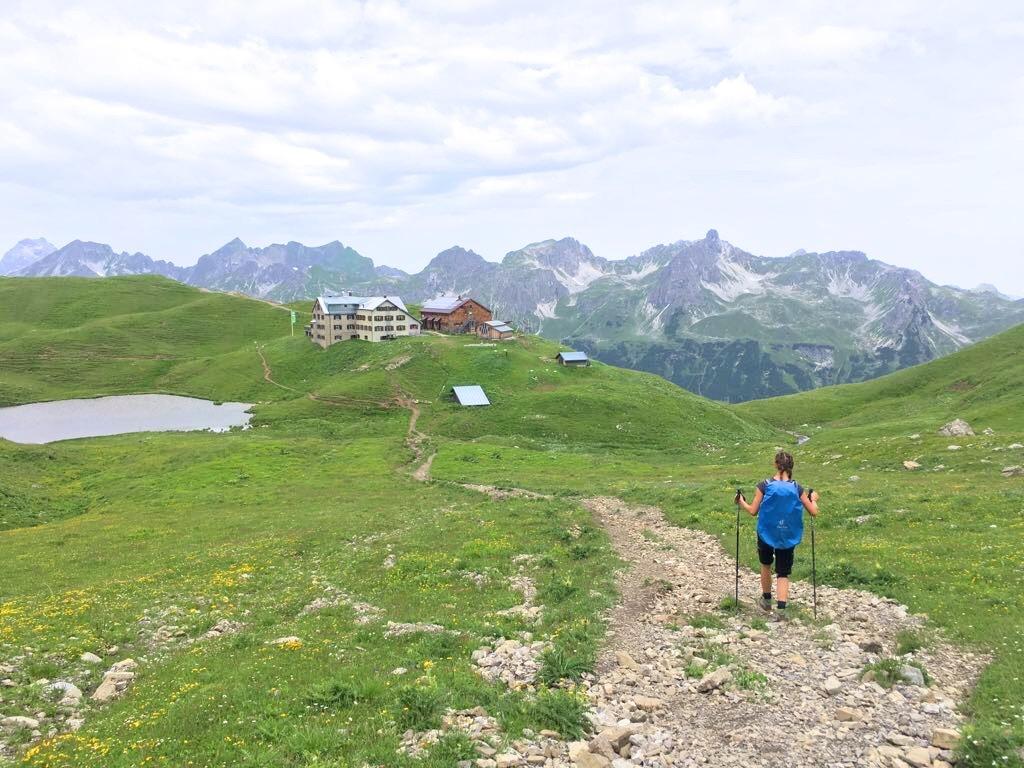 Biberkopf Hüttenwanderung: Auf dem Weg zur Rappenseehütte
