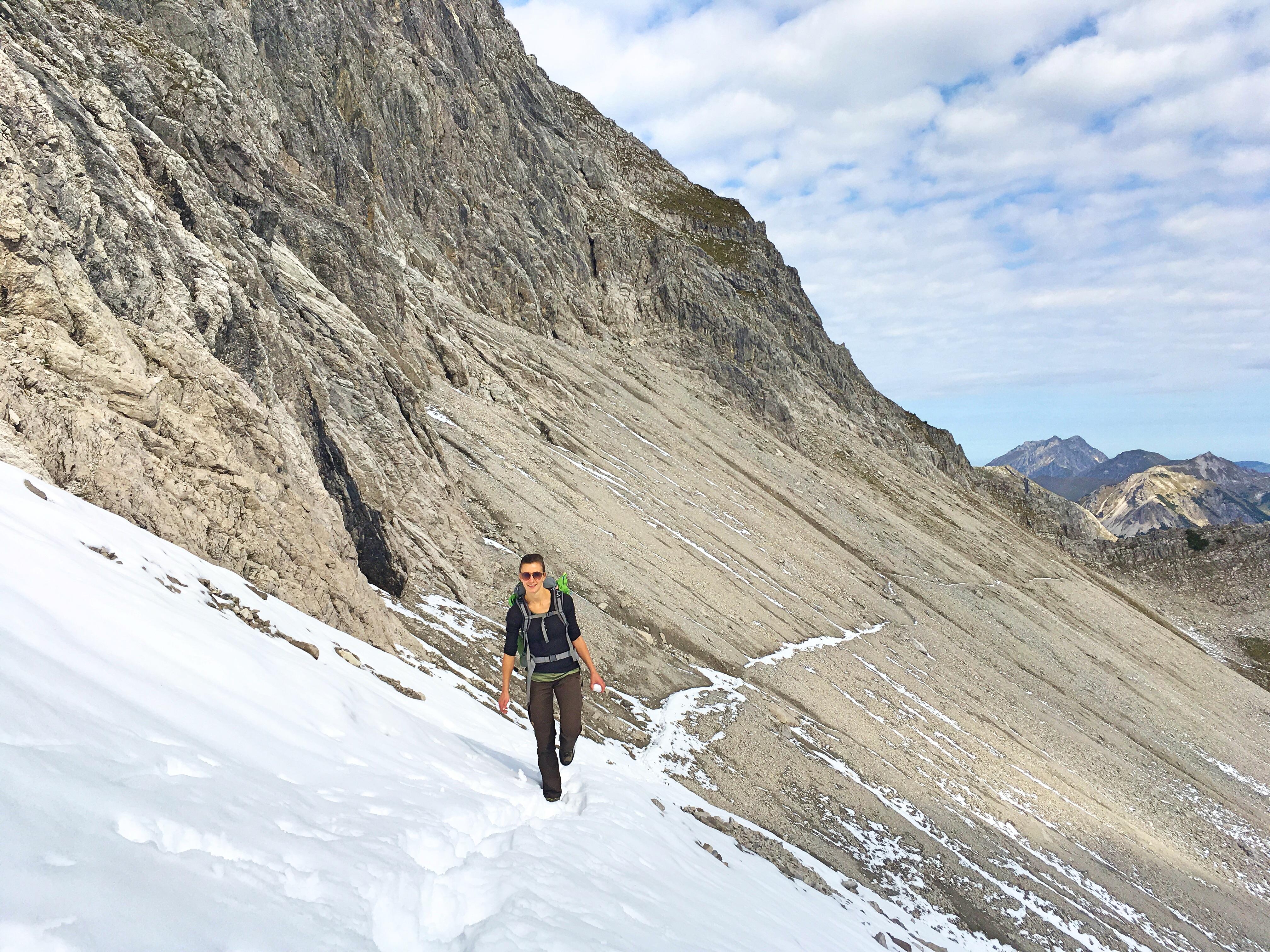 Bergtour Hochvogel: Einstieg in den Kalten Winkel.