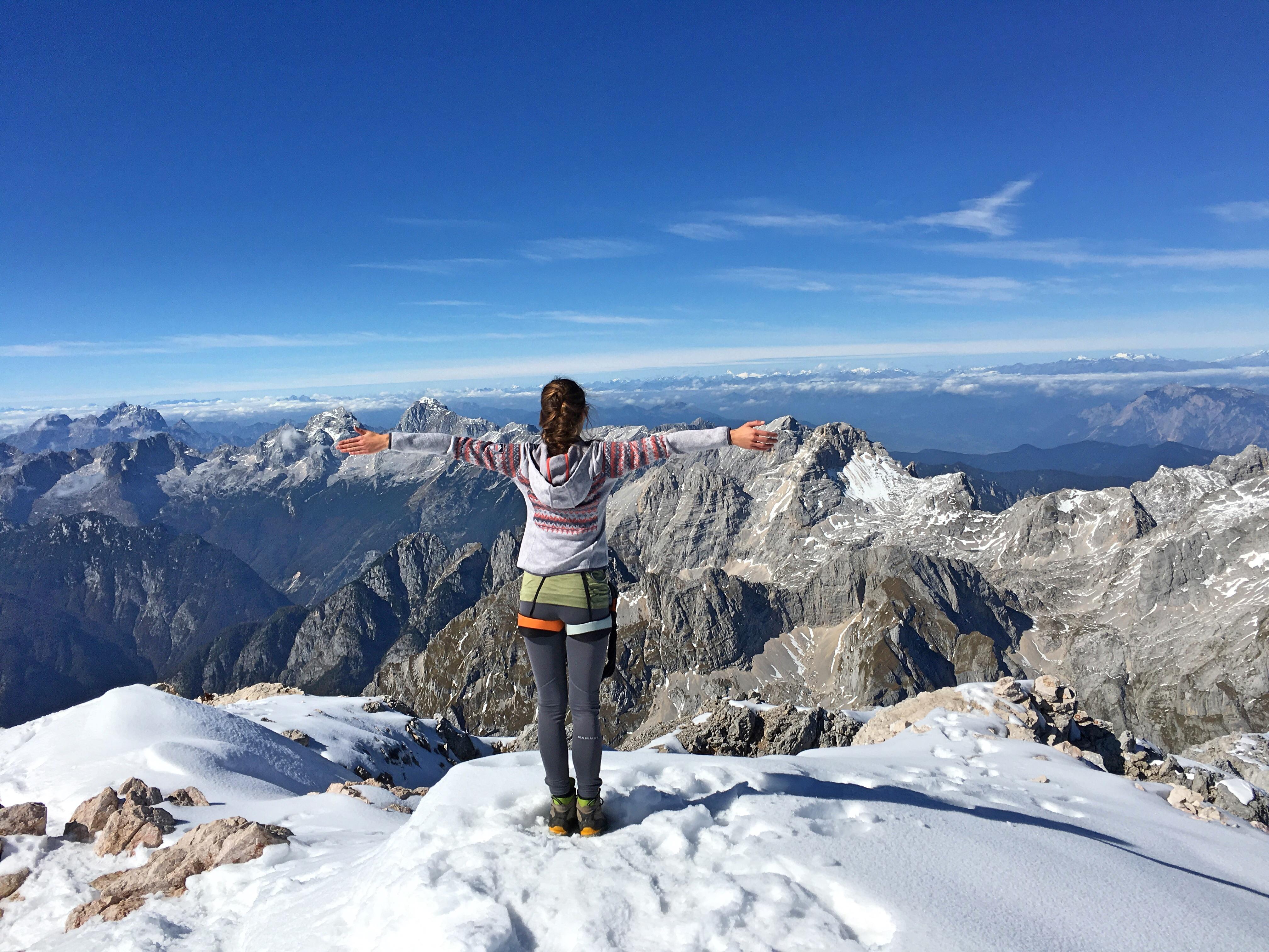 Triglav Gipfel: Traum Panorama bei Traumwetter, das hat sich gelohnt!
