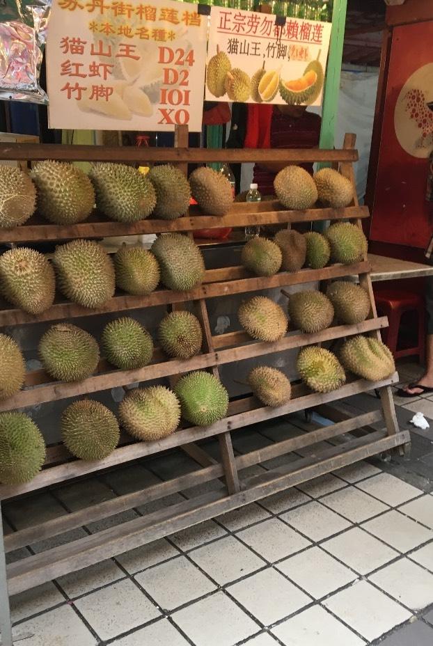 Durian Früchte in Kuala Lumpur: Traust du dich?