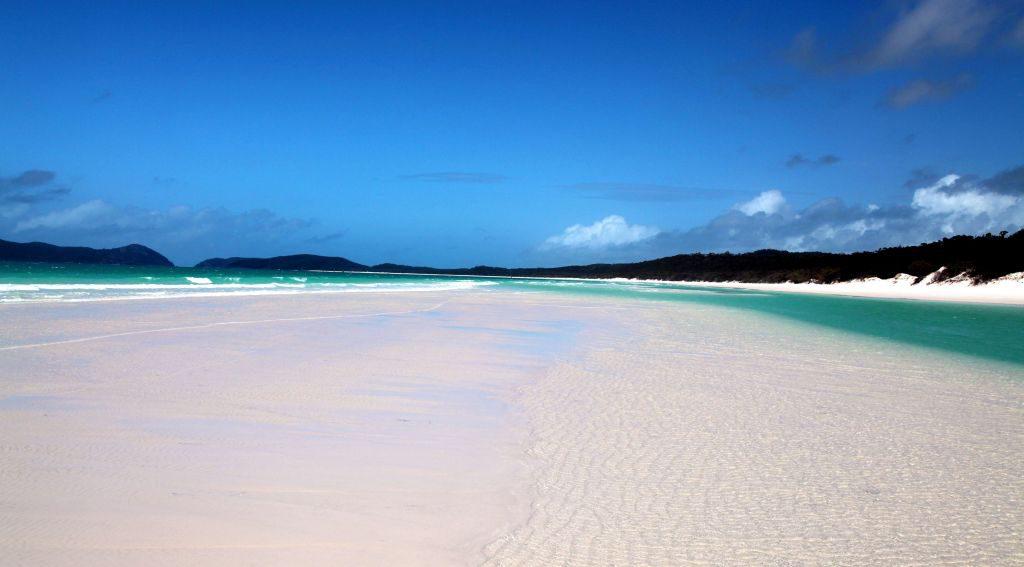 Reisetipps Australien: Relaxen am Whitehaven Beach auf den Whitsunday Islands
