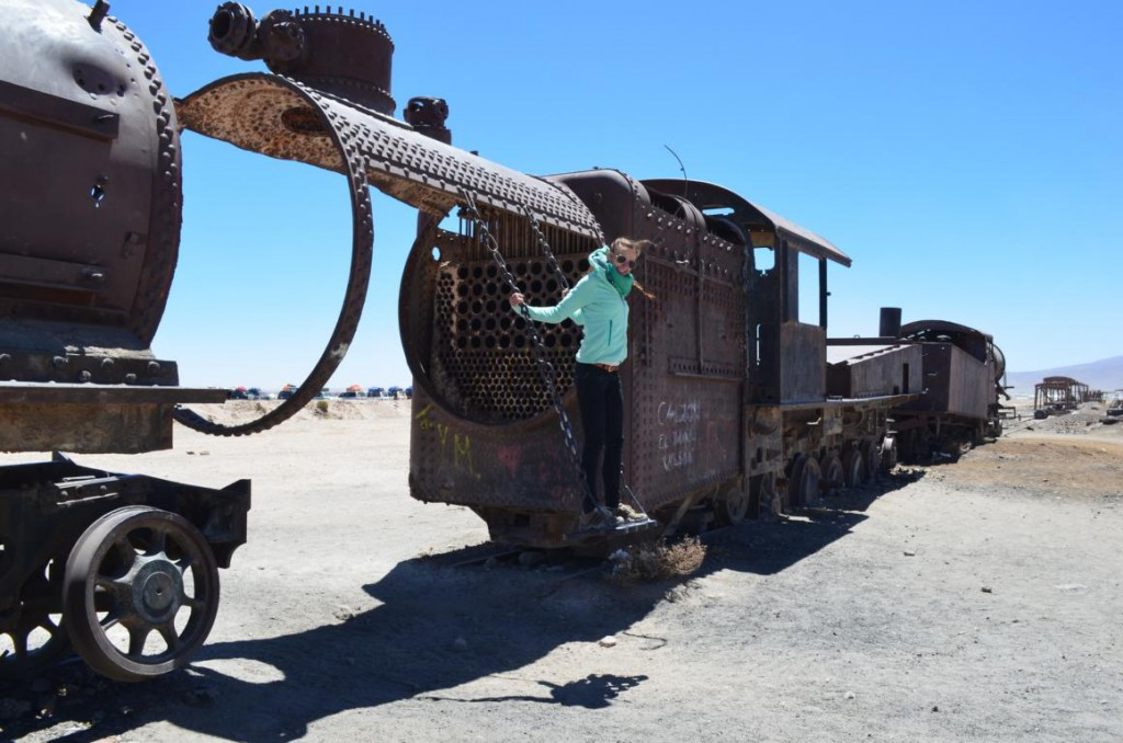 Friedhof der Züge bei Uyuni