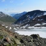 Blick von Similiaun ins Tal: Zu Fuß über die Alpen.