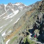 Abstieg über die schroffe Felswand des Similiaun nach Vernagt.
