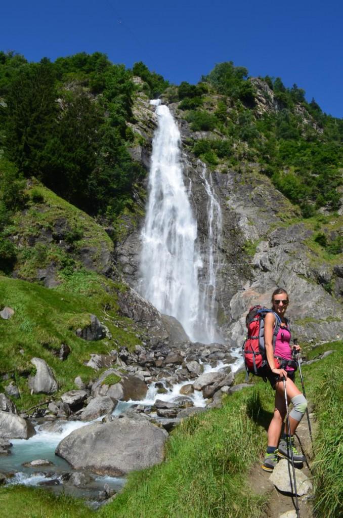 Partschinser Wasserfall auf dem Meraner Höhenweg in Südtirol: Ein lohnenswerter Abstecher.