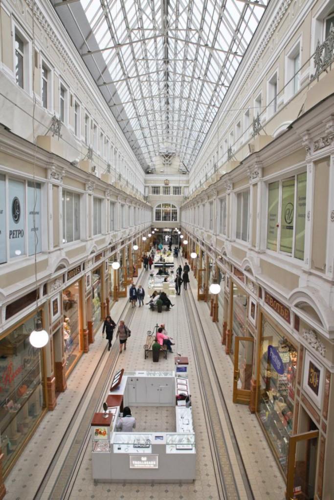 Einkaufen auf Russisch - Passage in St. Petersburg