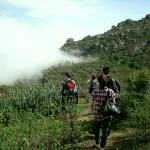 Trekking im Nebel