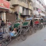 Menschenrikschas in Kalkutta