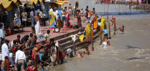 Ganges-Ufer in Haridwar