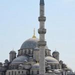 New Mosque von der Galata Brücke fotografiert