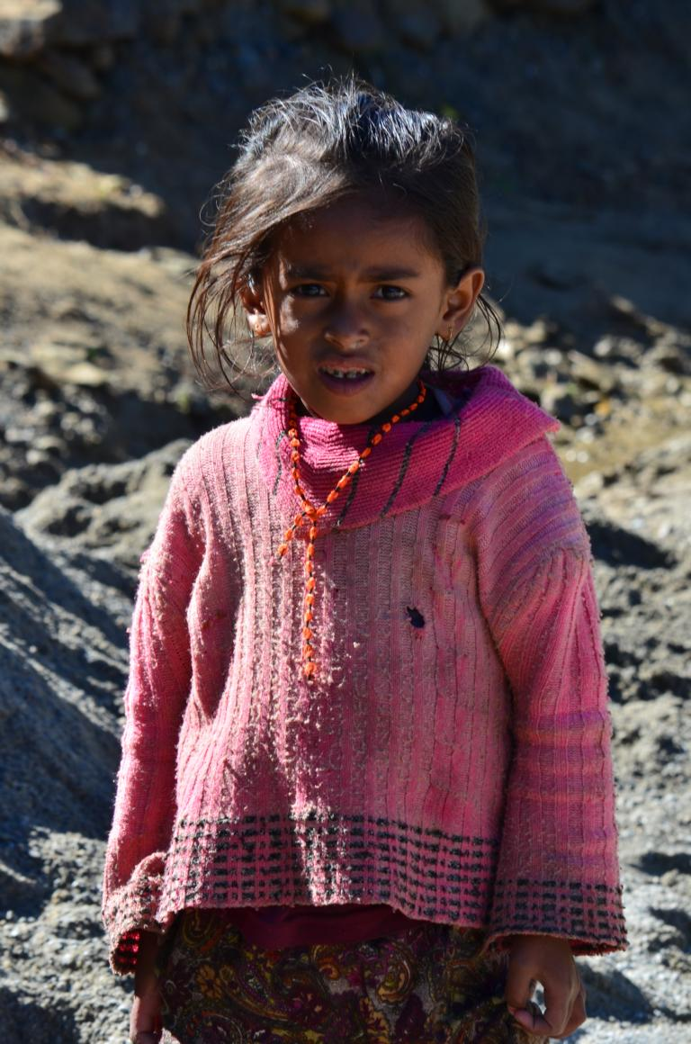 Dorfmädchen in der Annapurna Region Nepal