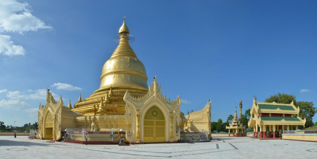Die Maha Wizara Pagode in Yangon - ein Traum in Gold