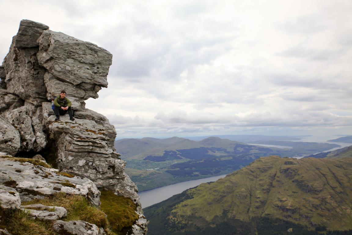 """Auf dem Gipfel von """"The Cobbler"""" Schottland"""