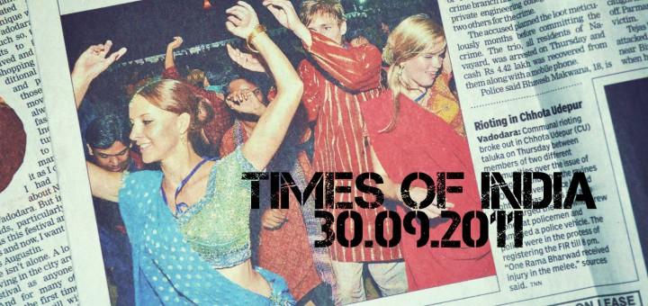 """Isolde MaReisen auf dem Titel der """"Times Of India"""""""