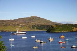 Portree: Hauptstadt der Isle of Skye, Fischerreihafen und dennoch überschaubar.