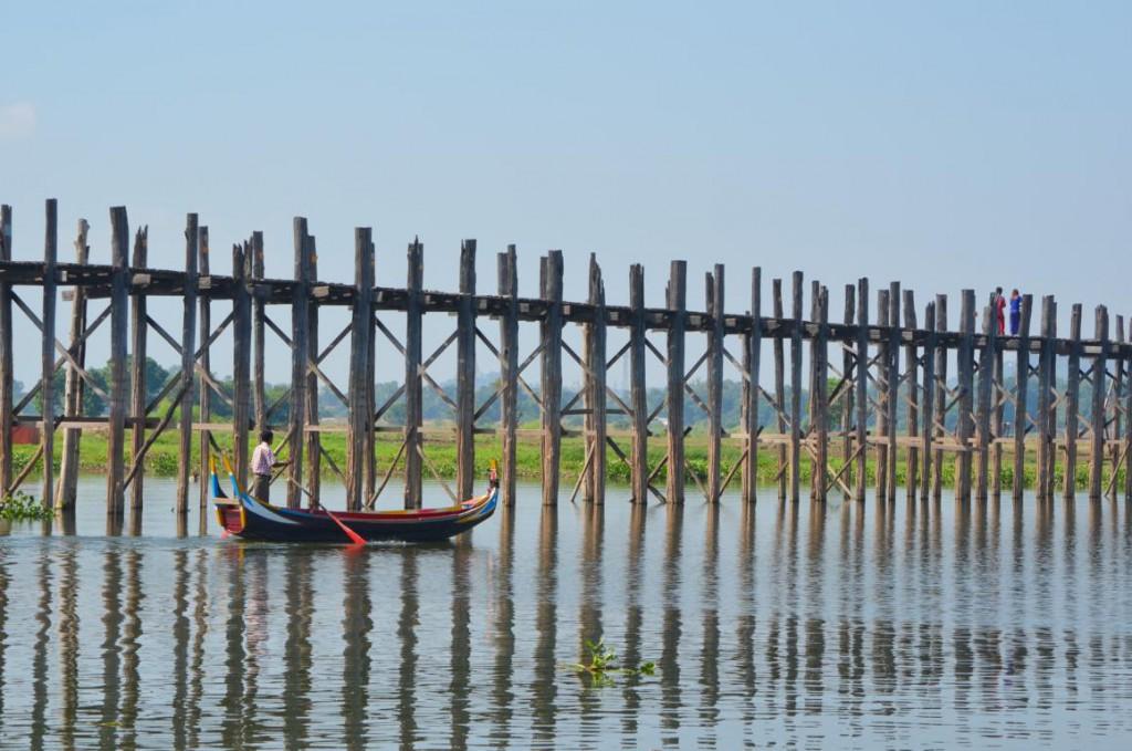 Die U-Bein Brücke in Amarapura