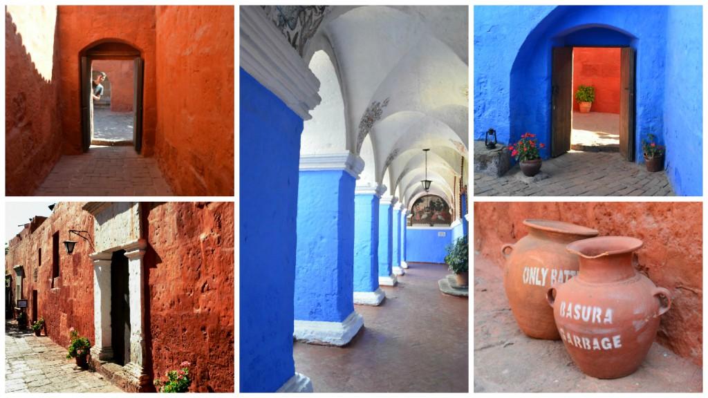 Farbenfrohes Kloster: St. Catalina erstrahlt in rot und blau.