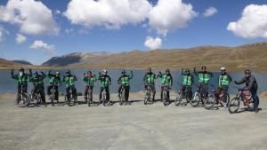 Startschuss für die Mountainbiketour über die Todesstraße von La Paz.