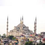 Mit der Fähre auf die Prinzeninseln: Panoramablick auf Istanbul.