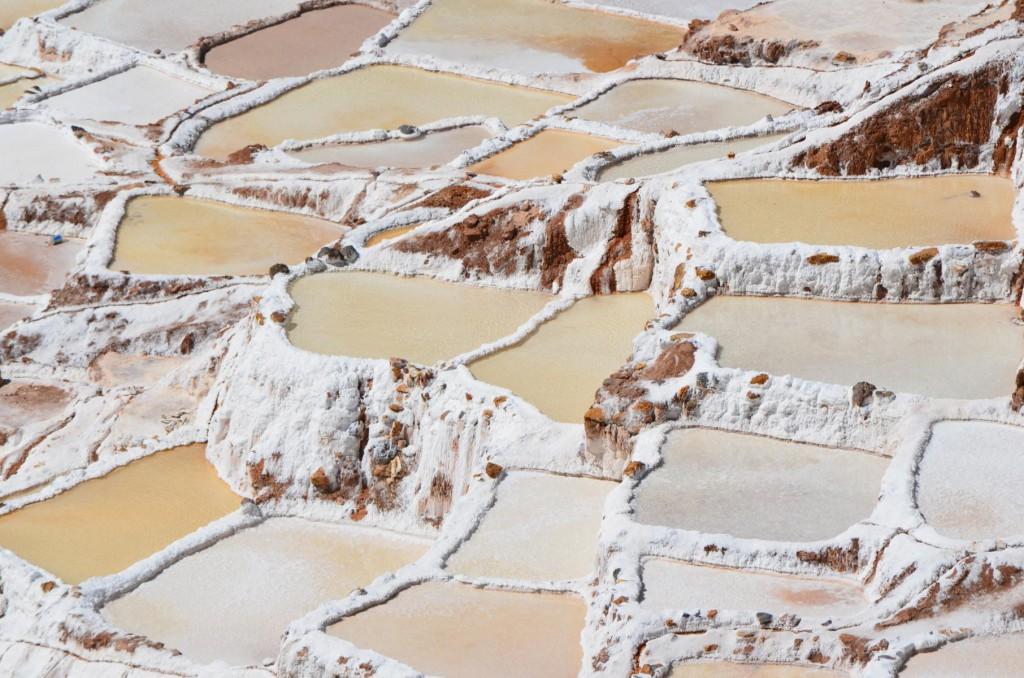 Fantastischer Anblick: Salzterrassen von Maras im Heiligen Tal.