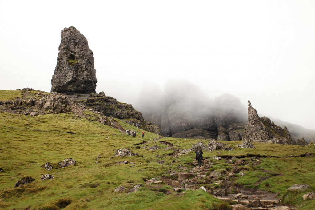 Ankunft am Old Man of Storr