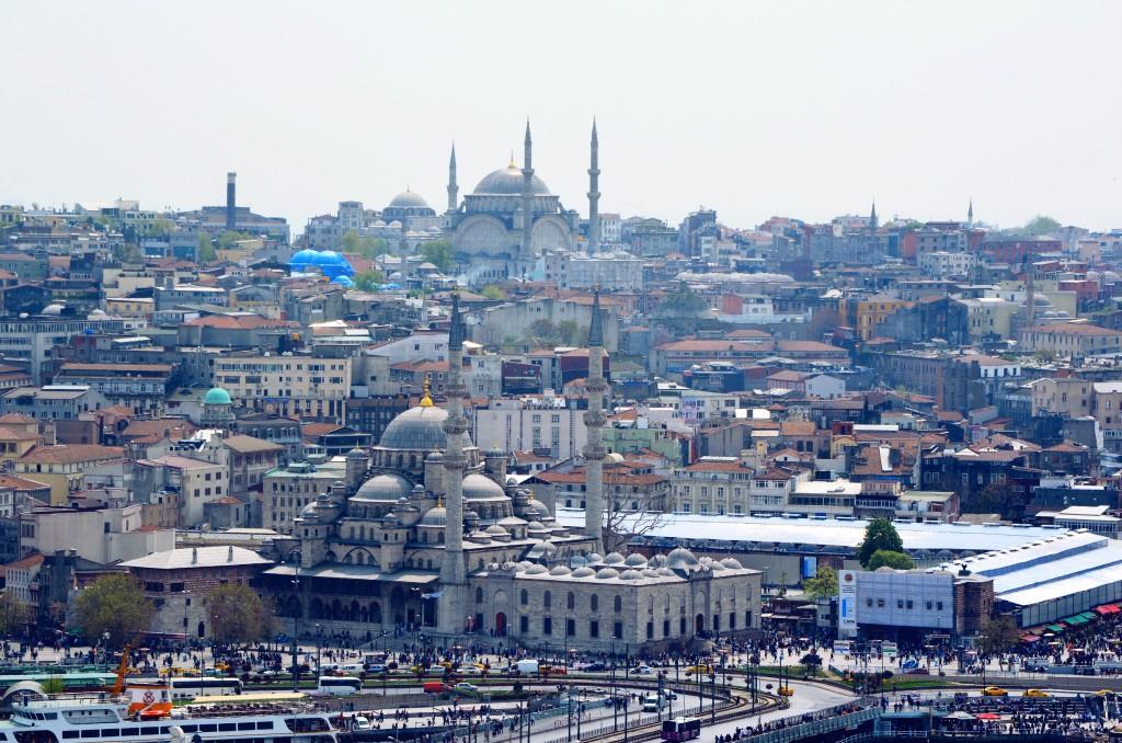 Aussichtspunkte in Istanbul: Blick auf die Metropole vom Galata Turm.