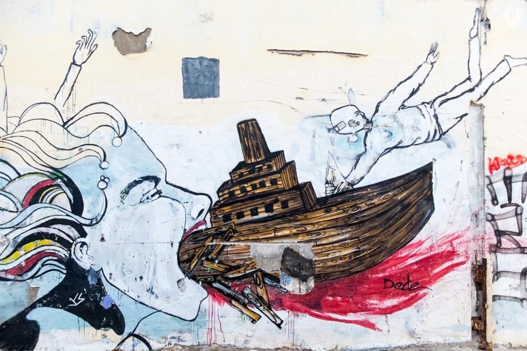 Israel Reisetipps: Street Art Tour der israelischen Künstlerin DEDE © www.movingroovin.de