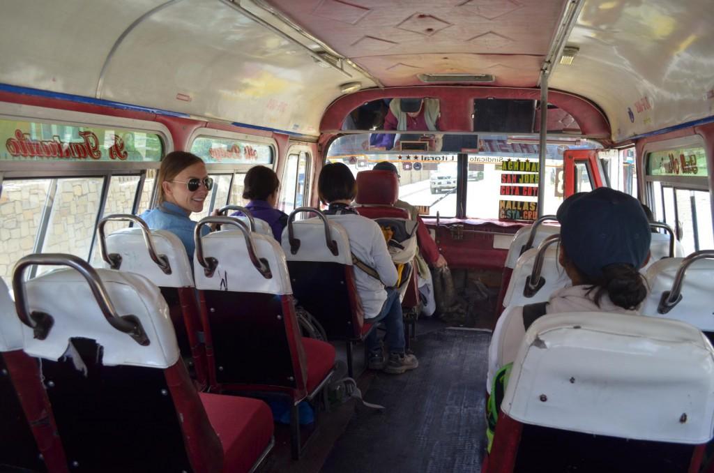 Backpacking in Peru: Ein Hoch auf unseren Busfahrer!