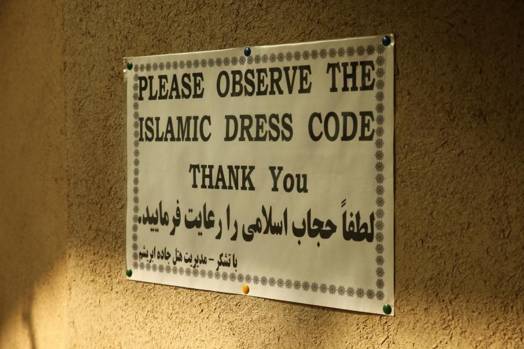 Backpacking Iran: Kopftuch auf und ab gehts!