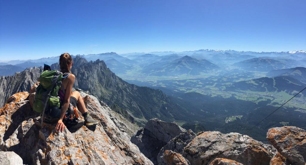 Klettersteige am Wilden Kaiser: Auf dem höchsten Gipfel im Kaisergebrige