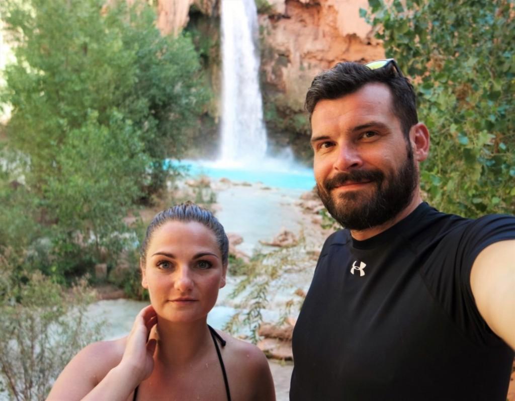 Als Paar um die Welt: Havasu Falls Grand Canyon (© www.beforewedie.de)