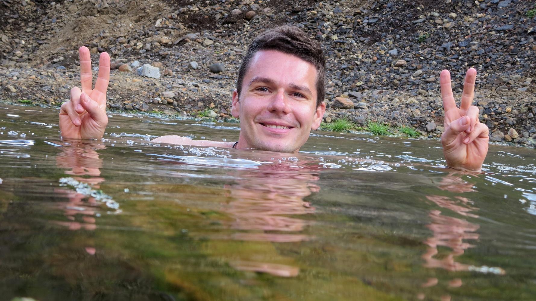 Zu Fuß durch Island: Endlich ein lang ersehntes Bad!